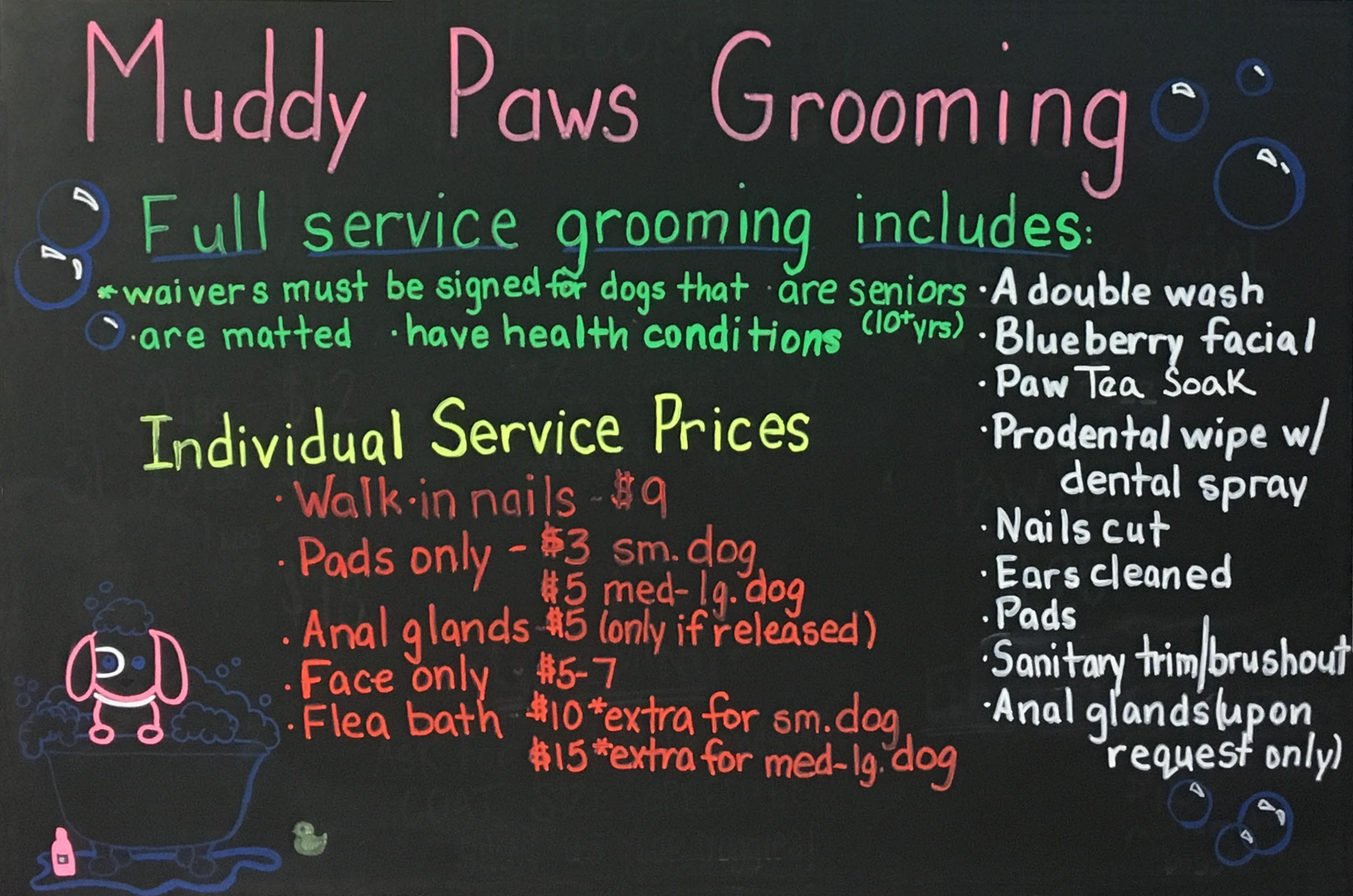 Muddy paws dog wash and grooming looking for grooming services we can take care of everything in the same visit sorry there is no option for self serve grooming solutioingenieria Gallery